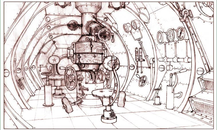 Adventures of Jules Verne Concept Art