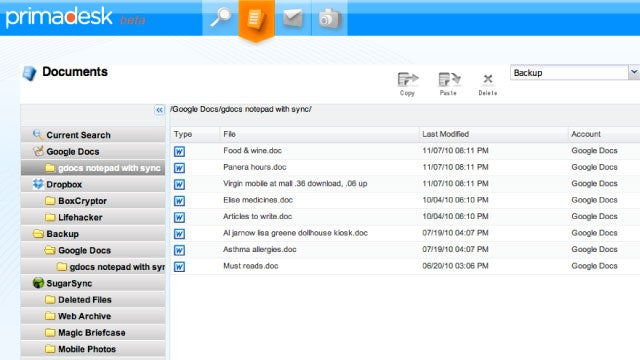 Primadesk Is a Centralized Web Manager for All Your Online Files, Docs, Photos, and Emails