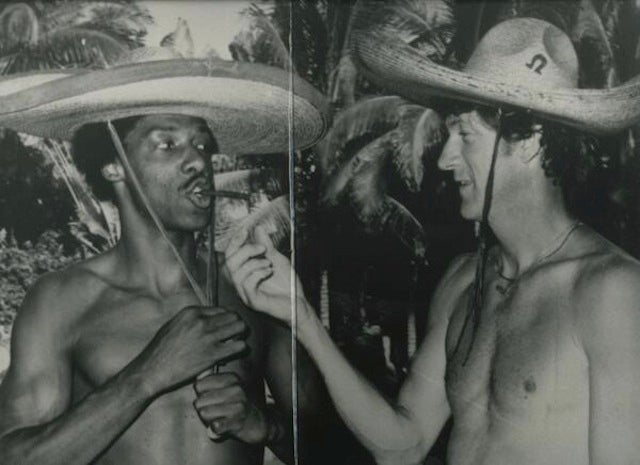 Old Photo: Dr. J And John Havlicek, Shirtless And Wearing Sombreros