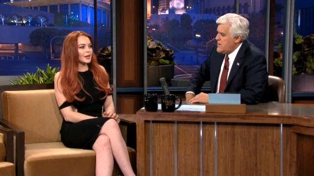Lindsay Lohan Tells Jay Leno 'It's All Good' Between Her and Barbara Walters