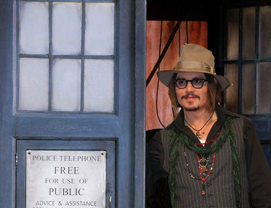 The BBC says there's no Doctor Who movie in the works. Not even with Johnny Depp.
