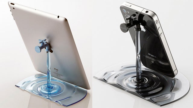 Let Elecom's Faucet Stands Be the Closest Thing to Water Your iPad Ever Touches