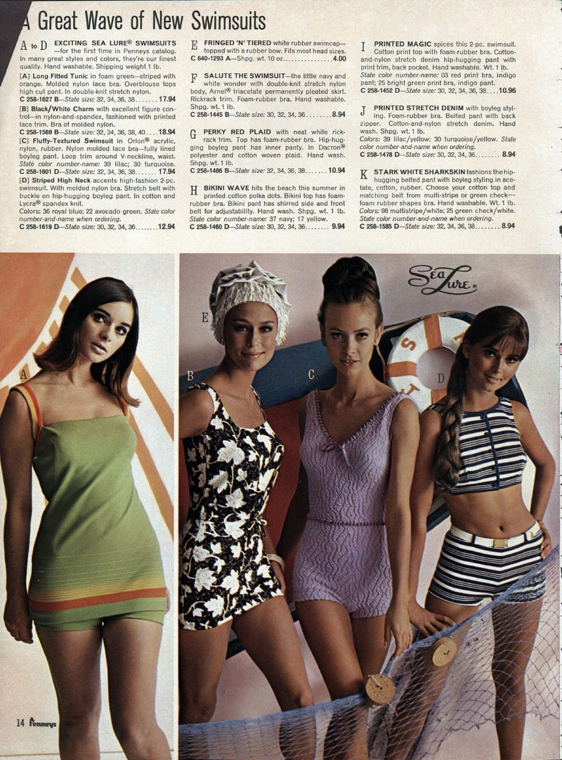 Let's Shop for Swimsuits in 1967