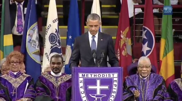 You Should Watch All of Obama's Moving Eulogy for Clementa Pinckney