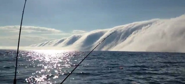This enormous fog bank looks like a cotton wool tsunami