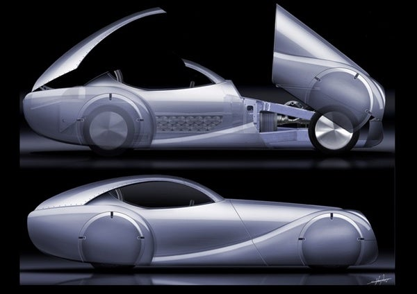 Morgan Hydrogen Fuel-Cell LifeCar from Concept To Shiny Reality