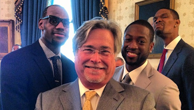 Chris Bosh Continues To Be An Excellent Photobomber (White House Edition)