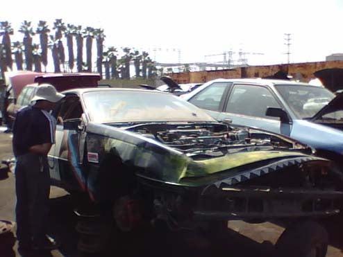 24 Hours Of LeMons Veteran Awaits Crusher In Long Beach Junkyard