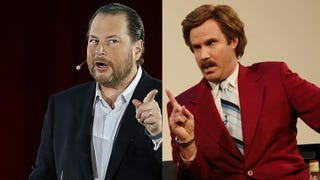 Marc Benioff Is the Ron Burgundy of Tech