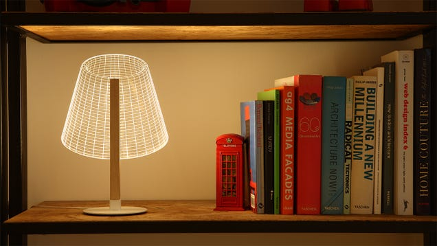 The Shade on These Perfectly Flat Lamps Is Just an Optical Illusion