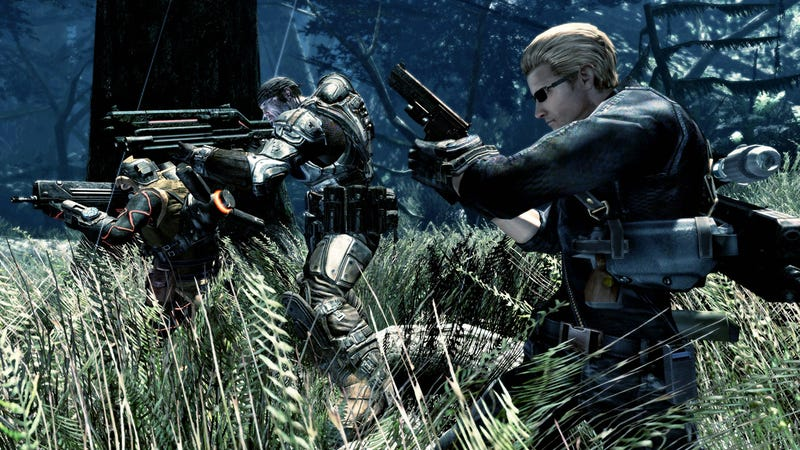 Marcus, Dom, And Wesker Party In Lost Planet 2