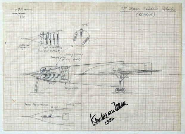 1950s Rocket Sketches Envision Manned Spaceflight