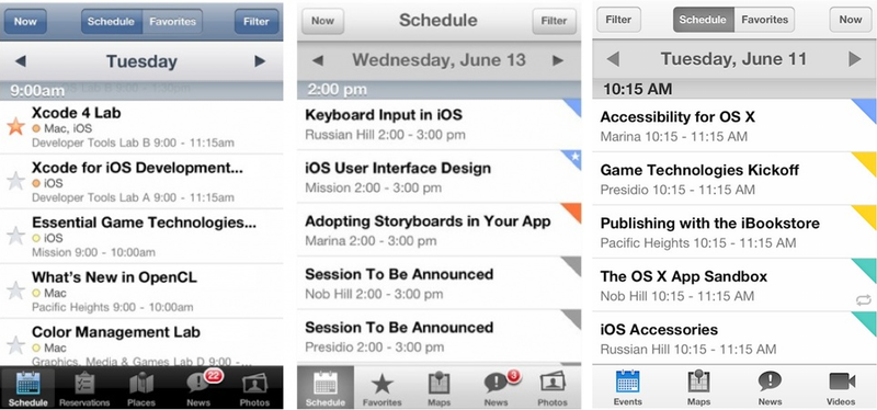 What the New WWDC App Tells Us About iOS 7