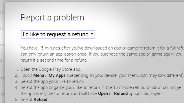 Se faire rembourser une application sur le Google Play Store