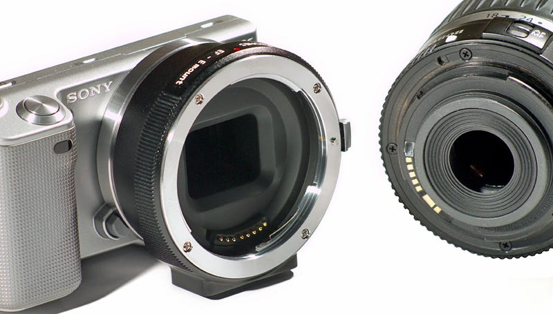 $400 Adapter Lets Your Sony NEX Gaze Through Canon Lenses