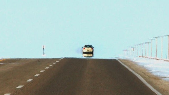 What Does a Mirage Look Like in the Winter?