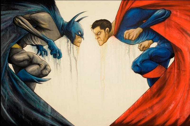 Zack Snyder commissioned these Batman vs. Superman paintings