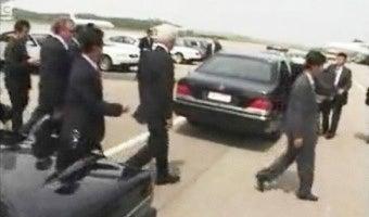 In North Korea, Bill Clinton Rides In Benz Style