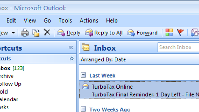 How to access archived files in outlook 2010