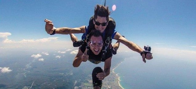 This guy's job pays him $94,000 to have as much fun as possible
