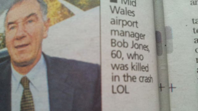 'LOL' Is Not an Appropriate Photo Caption for an Article About a Fatal Car Crash