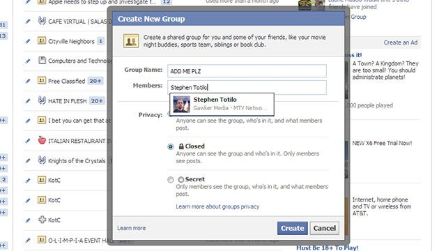 Now Facebook Games Can Create User Groups to Fill With 'Add Me' Posts