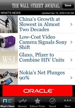 Wall Street Journal Puts Paid Content on Your iPhone for Free