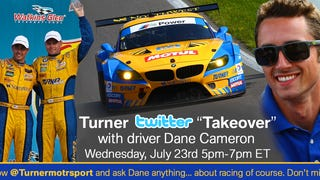Twitter Takeover with Turner Motorsport Driver Dane Cameron...Today at 5pm!