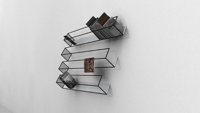 An Optical Illusion Bookshelf: Are There Three or Four Shelves?