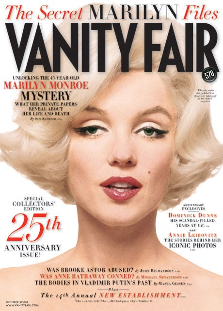 Marilyn Monroe is on the Cover of Vanity Fair for the Third Time in Five Years