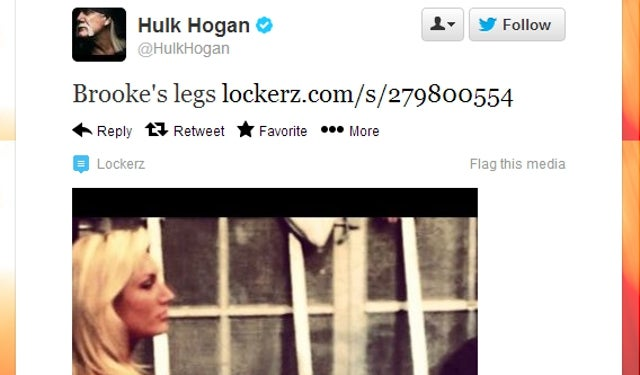 Proud Dad Hulk Hogan Tweets Photo of Daughter's Legs and Part of Her Ass [UPDATE: Brooke Responds]