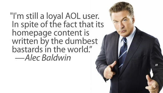 Alec Baldwin Smacks Down AOL As Only Alec Baldwin Can