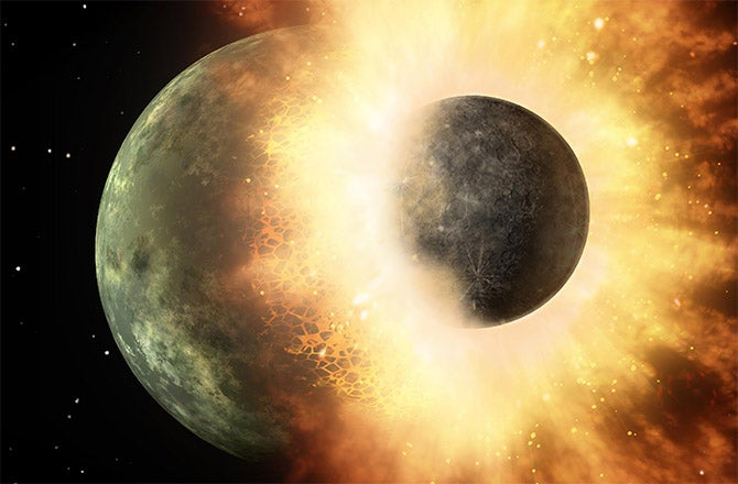 We've Found Traces Of The Massive Impact That Created The Moon