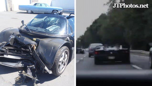 Surprise! $528,000 Ferrari F50 Driven By Shirtless Asshat Crashes