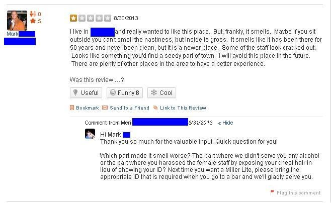 Pub Owner Publicly Shames Dirty Patron After Nasty Yelp Review