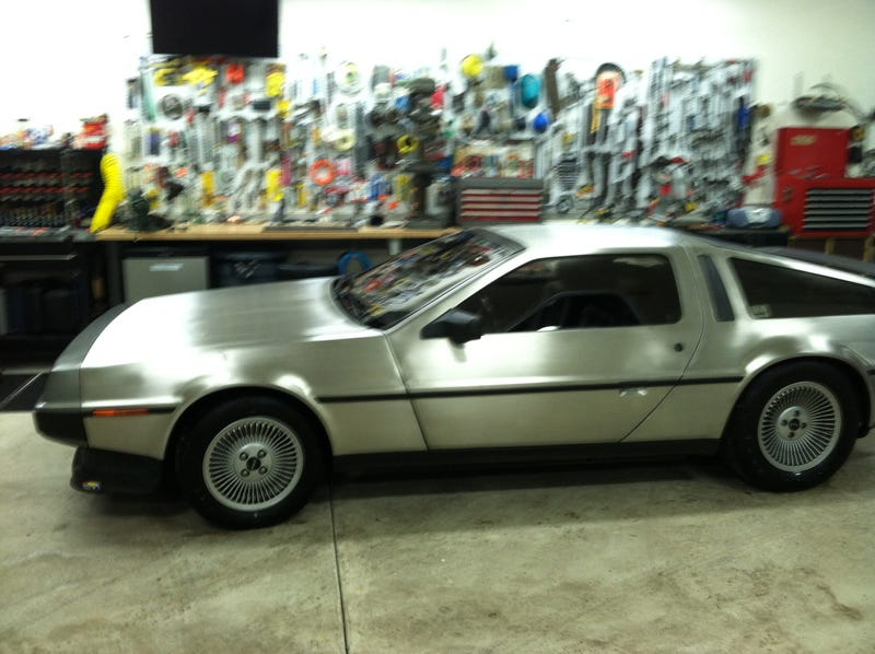 Doing some minor work on the Delorean