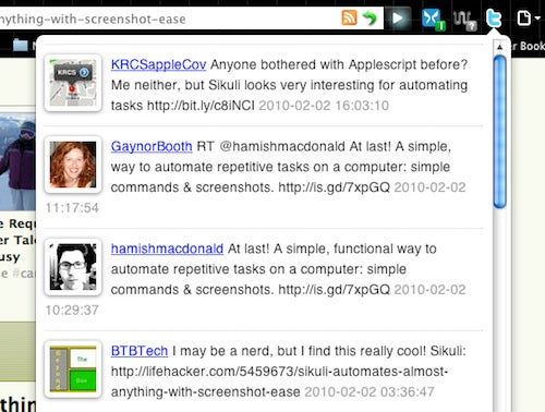 Twitter Reactions Shows What the Twitterverse is Saying About That Web Page