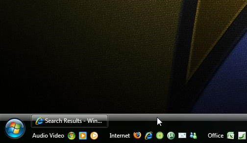 Organize Your Quick Launch With a Double-Height Taskbar