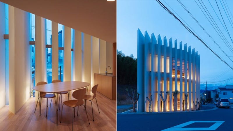 Vertical Louvers Let the Light Dance In This Modern Home