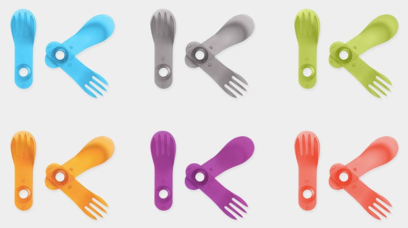 This Folding Knife and Spork Is Plastic Cutlery Evolved