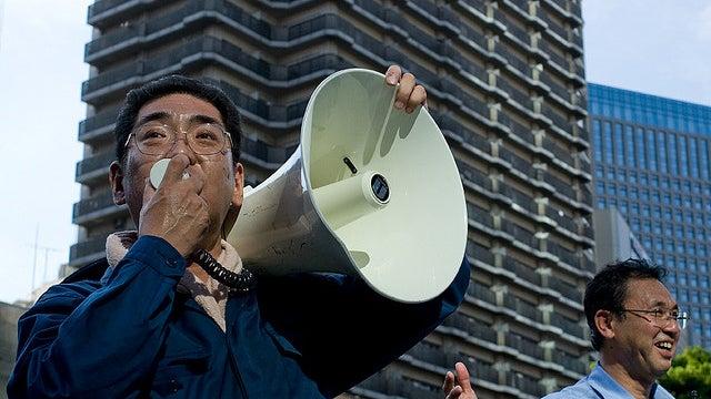 Drunk Brit Arrested For Stealing Campaigning Japan Man's Megaphone