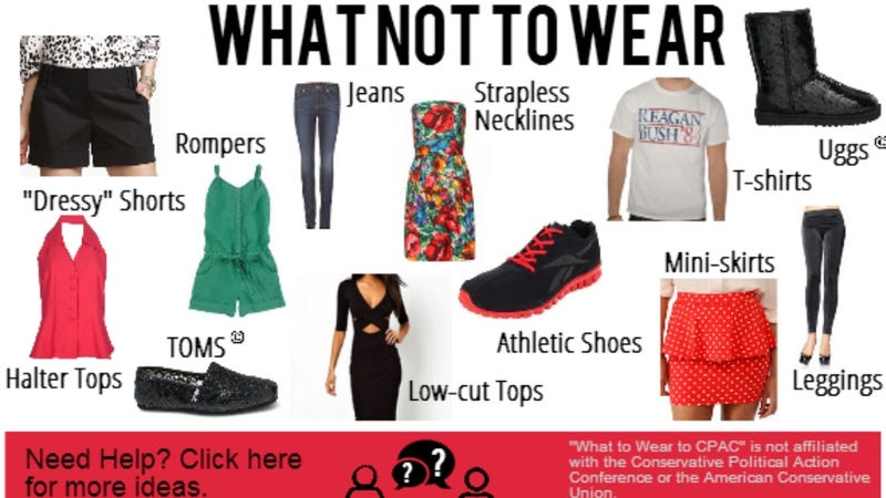 CPAC Releases Suggested Dress Code: Don't Get Caught in Uggs, Leggings, or Rompers