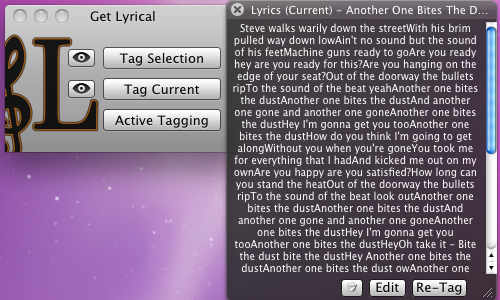 Get Lyrical Adds Song Lyrics to iTunes