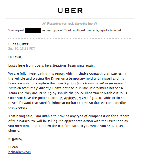 Man Claims Uber Laughed at Him When He Tried To Report Sexual Assault
