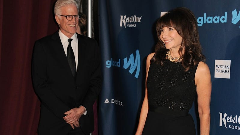 Ted Danson Enjoys a Creepy Conjugal Stare at Mary Steenburgen