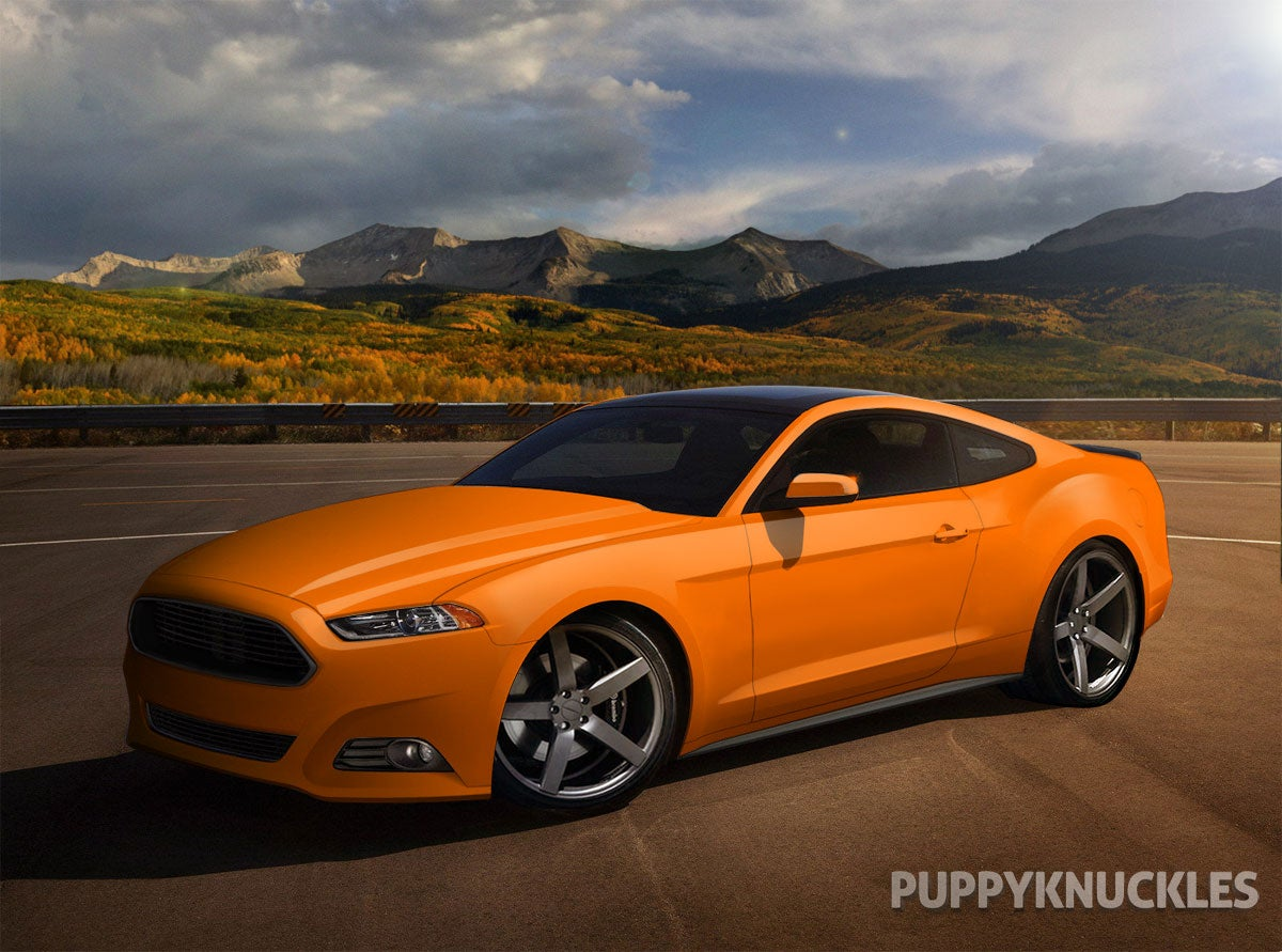 here are some different colors of the 2015 mustang rendering