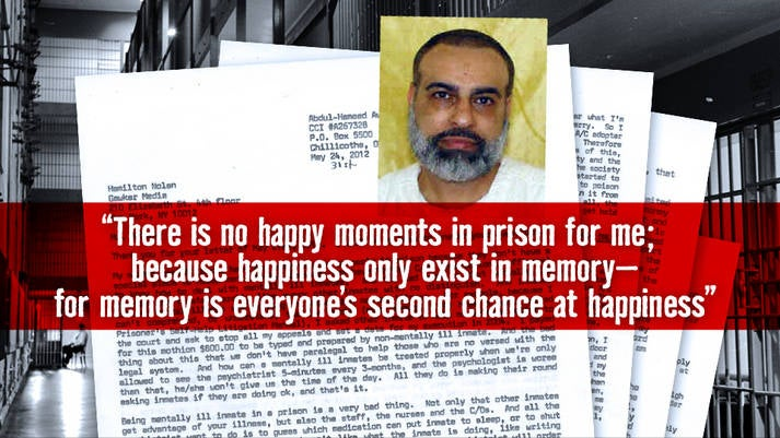 Letters From Death Row: Abdul Awkal, Who Was Supposed to Die Last Week