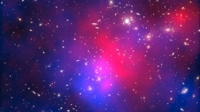 Pandora's Cluster is a tangled mess of galaxies and dark matter