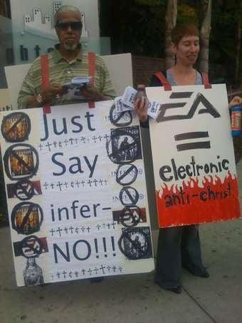 EA's Fake Protest Riles Some Religious