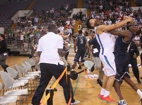 Georgetown Brawls With Chinese Team